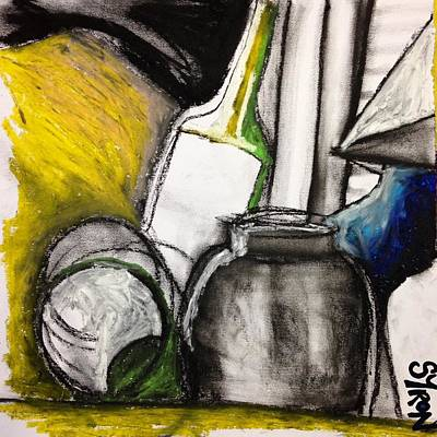 Drawing - Cool Still Life by Helen Syron