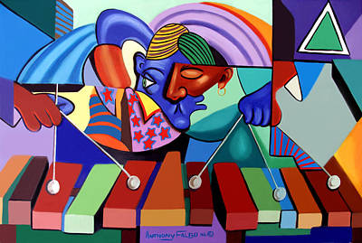 Cubists Digital Art - Cool Vibes by Anthony Falbo