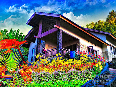 Photograph - Cool Villa In Malang by Vidka Art