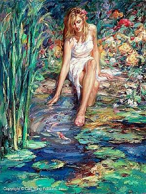 Cao Yong Painting - Cool Waters by Cao Yong