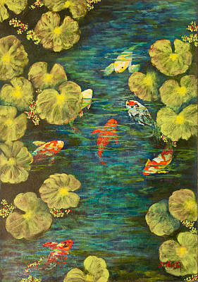 Cool Water Sanctuary Art Print by Annie St Martin