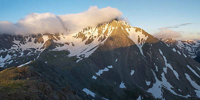 Torreys Peak Photograph - Cool Whip - Mountain Sunrise by Aaron Spong