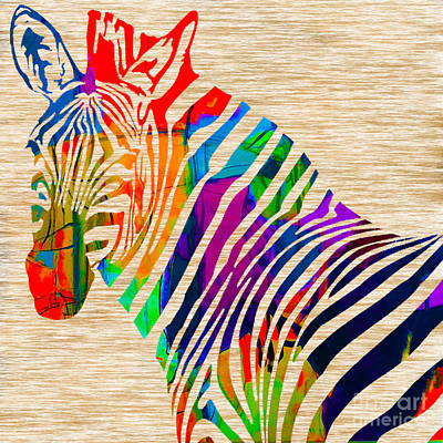 Cool Zebra Print by Marvin Blaine
