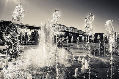 Coolidge Park Fountains Art Print