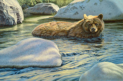 Yellowstone Painting - Cooling Down by Paul Krapf