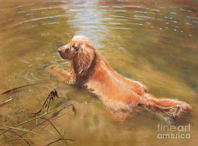 Cooling Off Art Print by Colleen Quinn