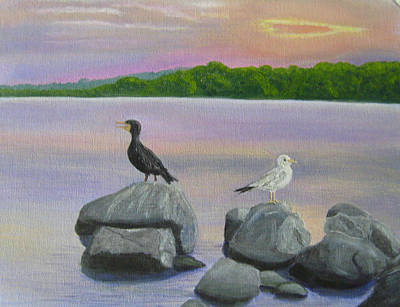 Wall Art - Painting - Cooling Off In The Evening by Lisa MacDonald