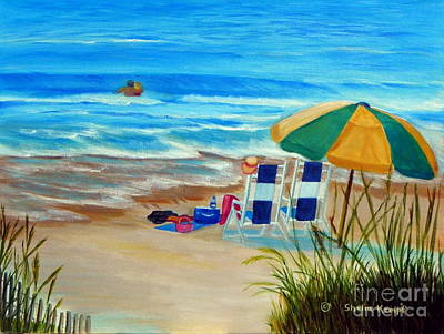 Art Print featuring the painting Cooling Off by Shelia Kempf