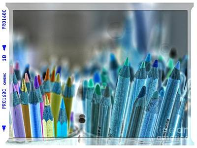 Photograph - Coolured Pencil by Lance Sheridan-Peel