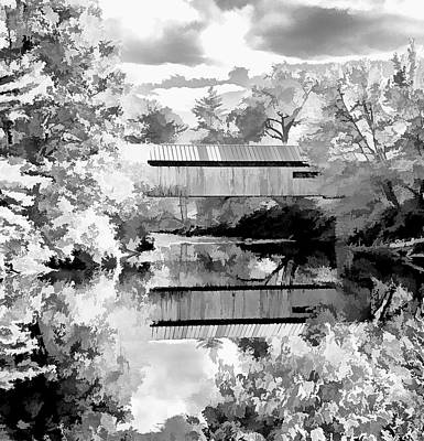 Photograph - Coombs Bridge In B And W by Caroline Stella