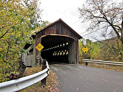Photograph - Coombs Bridge In Fall by MTBobbins Photography