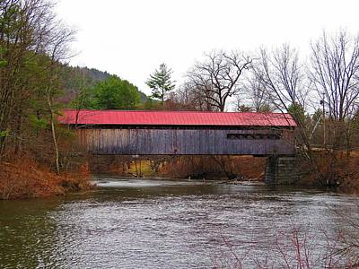 Photograph - Coombs Bridge Over The Ashuelot River by MTBobbins Photography