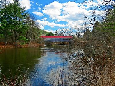 Photograph - Coombs Covered Bridge Scene by MTBobbins Photography