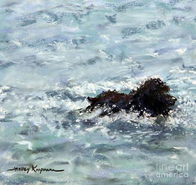 Boykin Spaniel Painting - Cooper At The Beach by Shelley Koopmann
