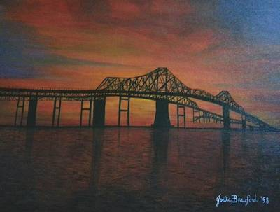 Painting - Cooper River Bridge Memories by Joetta Beauford