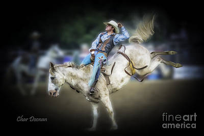 Photograph - Cooper Rodeo Bronc Rider by Char Doonan