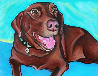 Chocolate Labrador Retriever Painting - Cooper The Chocolate Lab by Lauren Hammack