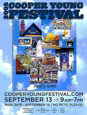 Digital Art - Cooper Young Festival Poster 2008 by Lizi Beard-Ward