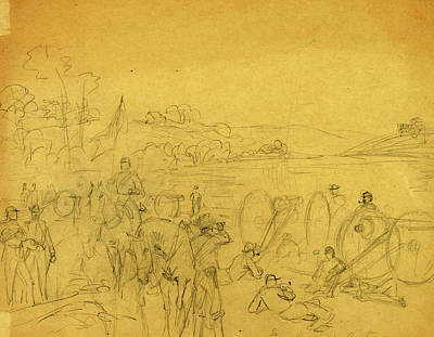 Arty Drawing - Coopers Arty, Between 1860 And 1863, Drawing On Tan Paper by Quint Lox