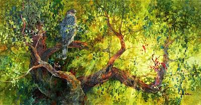 Wall Art - Painting - Cooper's Hawk by Floy Zittin
