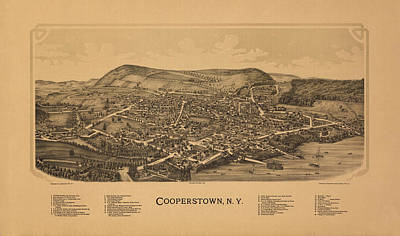 Cooperstown Photograph - Cooperstown New York 1890 by Andrew Fare