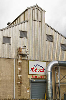 Farming Photograph - Coors Barley Elevator 2 by James BO  Insogna