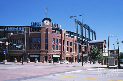Thomas Kinkade Royalty Free Images - Coors Field Royalty-Free Image by Chris Selby