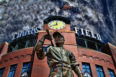Baseball Royalty-Free and Rights-Managed Images - Coors Field by David Sanchez