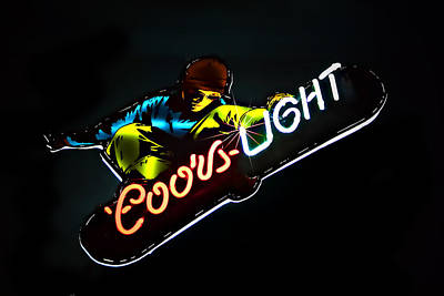 Photograph - Coors Light by Maria Coulson