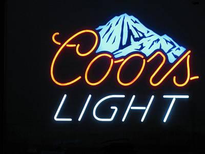 Photograph - Coors Light Mountains by Steven Parker
