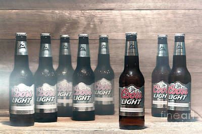 Beer Photograph - Coors Light by Olivier Le Queinec