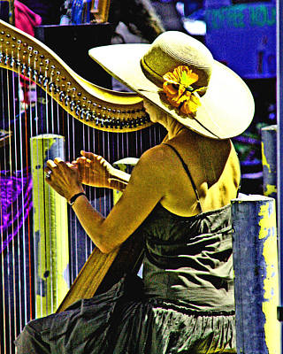 Photograph - Coos Bay Harp Lady by Joseph Coulombe
