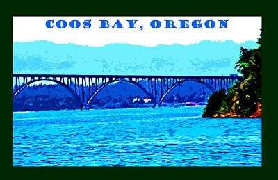 Digital Art - Coos Bay Oregon by Joseph Coulombe