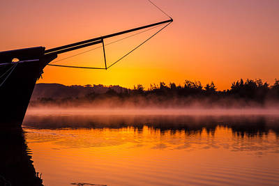 Sailboat Photograph - Coos Bay Sunrise II by Robert Bynum