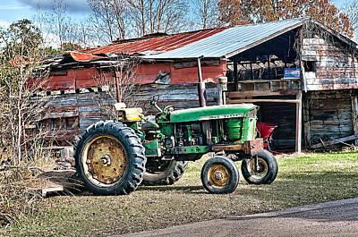 Coosaw - John Deere Tractor Art Print by Scott Hansen