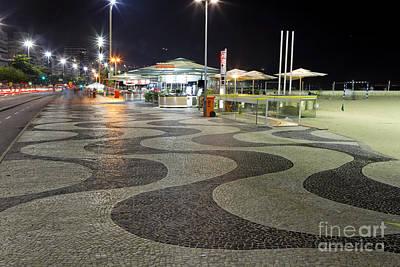 Copacabana At Night  Art Print by George Oze