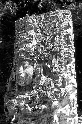 Photograph - Copan Stela Honduras by John  Mitchell