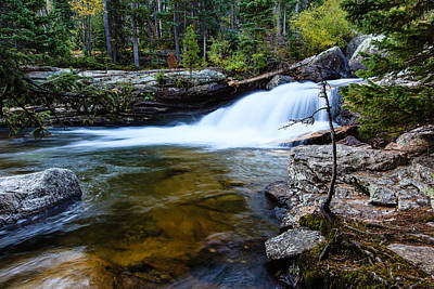 Photograph - Copeland Falls Rockies by Ben Graham