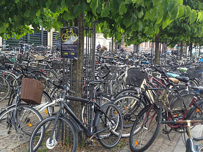 Photograph - Copenhagen Bicycles by David Nichols