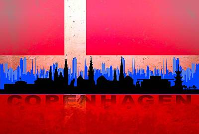 Prague Digital Art Digital Art - Copenhagen City by Don Kuing