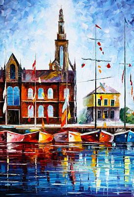 Copenhagen Denmark 3 Art Print by Leonid Afremov