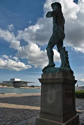 Photograph - Copenhagen Opera House And Copy Of David by Steven Richman