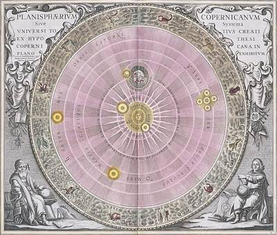 Copernican Planisphere, 1708 Print by Science Photo Library
