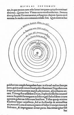 Photograph - Copernican Universe, 1543 by Granger