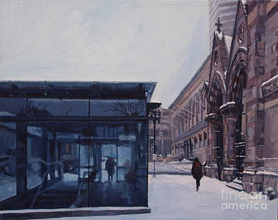 City. Boston Painting - Copley Winter by Deb Putnam