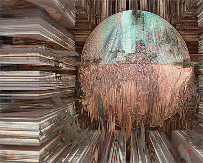 Digital Art - Copper Ball by David Jenkins