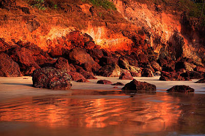 Goa Photograph - Copper Beach. Bagmalo.goa by Jenny Rainbow
