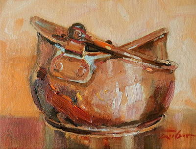 Copper Bowl Art Print by Ron Wilson