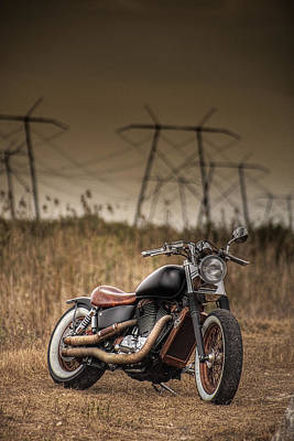 Copper Chopper Art Print by Bradley R Youngberg