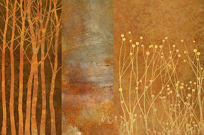Autumn Wall Art - Painting - Copper Collage by Cora Niele